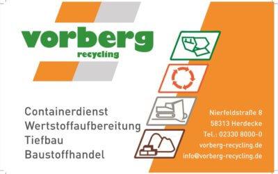 Wir danken: Vorberg Recycling