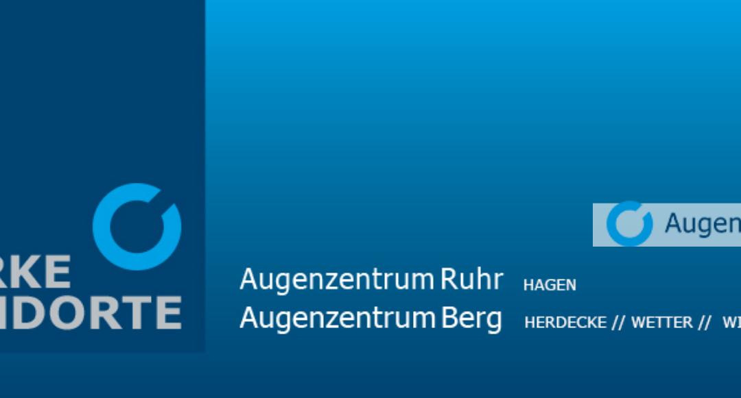 Wir danken: Augenzentrum Ruhr